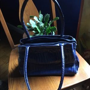 Beautiful Blue Eel Skin Handbag